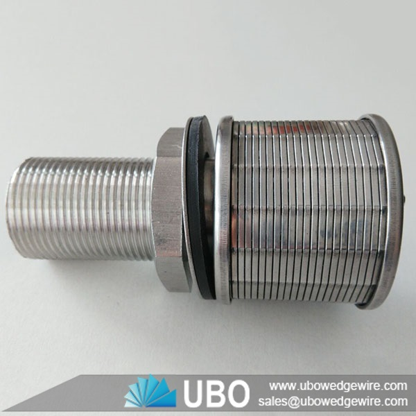 High pressure wedge v shape wire sand filter nozzles