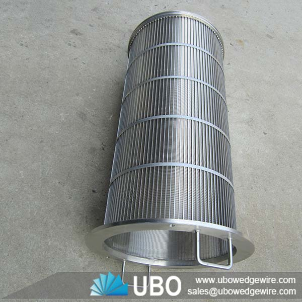 Johnson type v shaped stainless steel wedge wire drum