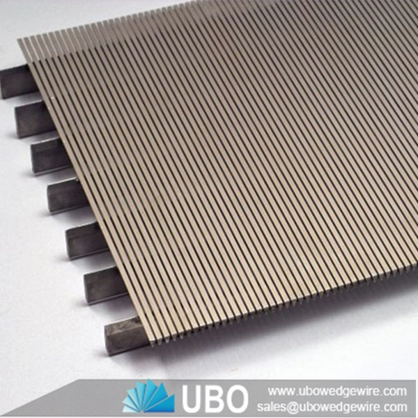 Slotted filter v shaped wedge wire screen flat