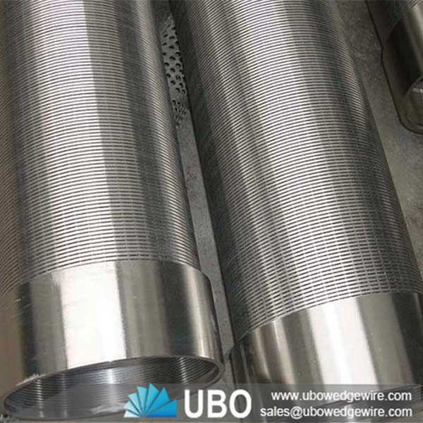 Stainless Steel Screens : Wedge wire stainless steel screen filter pipe for water