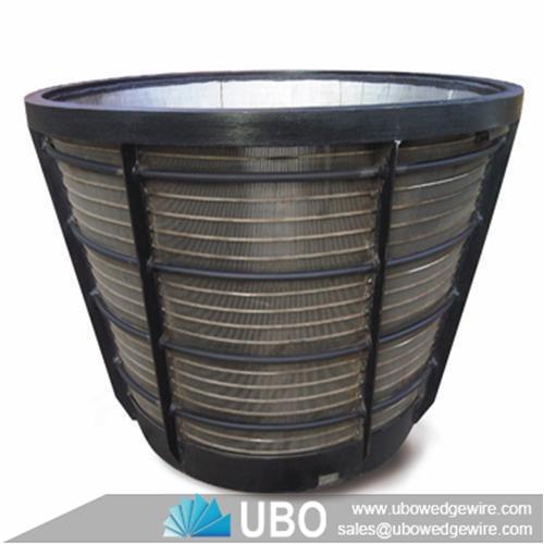 Stainless Steel Centrifuge Wedge Wire Mesh Sieve Basket