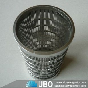 Stainless Steel Perforated Pipes Wire Slotted Tubes Screen