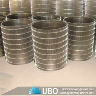 Stainless Steel V Wire Wrapped Strainer Cylinder Screen