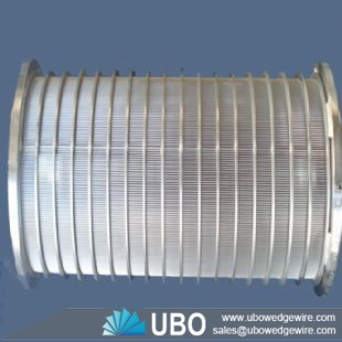 Rotary drum screen high strength wedge wire screen