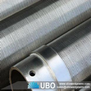 stainless steel v shap wedge wire screen cylinder pipe for pertrochmeical