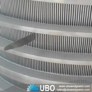 V-wire pressure screen slotted basket for pulp