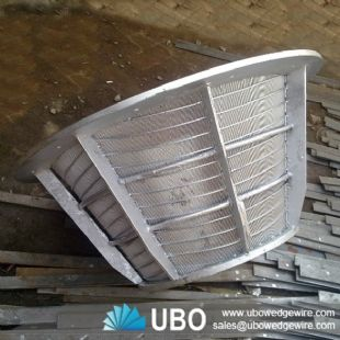 SS V profile wedge wire basket strainers
