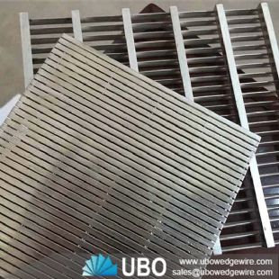Welded wedge wire screen panel