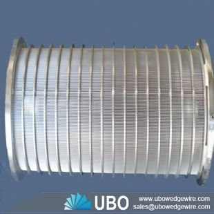 Rotary drum wedge screen cylinders