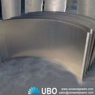 Stainless steel Water V Slot Wedge Wire Sieve bend screen