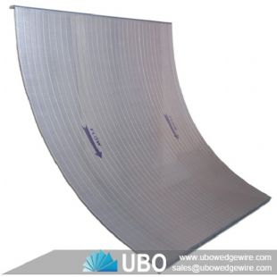 SS304 curve wedge wire screen panel for food processing