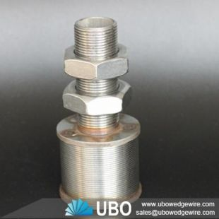 Wedge wire filter nozzles for water treatment