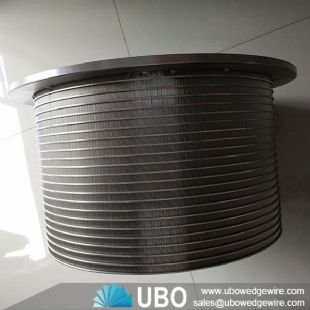 V-wire pressure Wastewater screen slotted basket