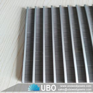 Wedge v wire screen panel for filtration
