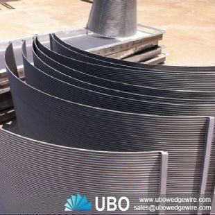 stainless steel wedge wire curve screen for food processing