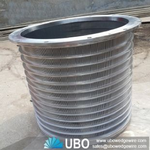 Wedge wire screen pressure basket