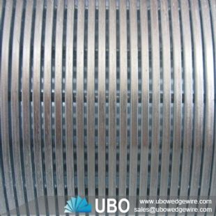 wedge wire v shap screen tube for filtration