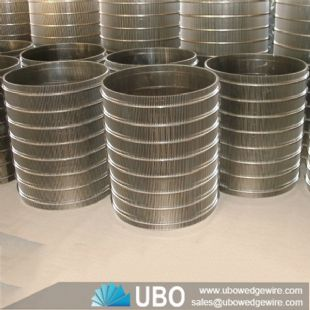 SS v wire wedge wire screen drum screen supplier