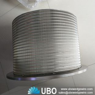 Pressure screen stainless steel wedge wire screen basket