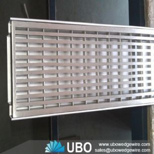 Water slot wedge wire screen panel