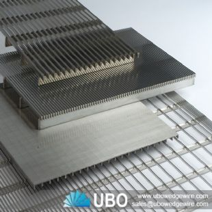 Opening wedge wire screen panel