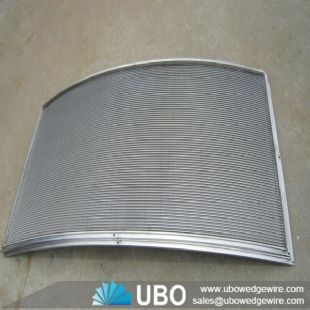 Wedge wire pressure arc screen panel