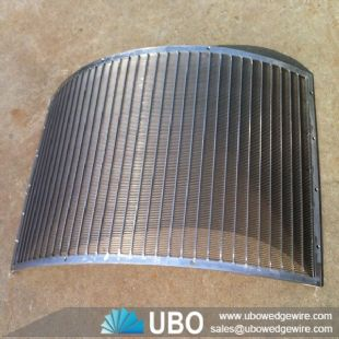Wedge wire screen parabolic screen