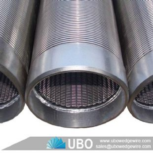 Welded continuous slot wedge wire screen with plain end