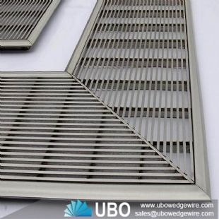 wedge wire floor panel