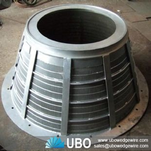 wedge wire sieve basket screen for mining processing