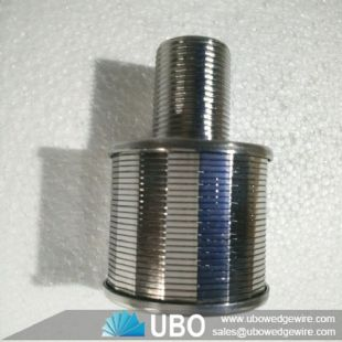 Wedge wire water filter nozzle for tank equipment