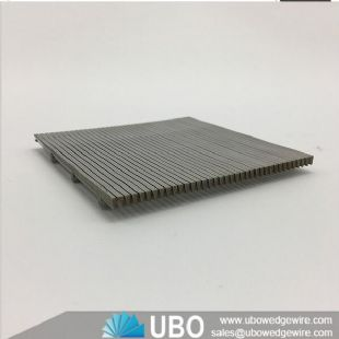 Flat stainless steel profile wire wedge screen panels