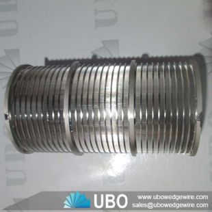 SS Wedge v wire wrapped screen pipe for wastewater treatment