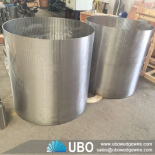 Johnson wedge wire rotary drum screen cylinder