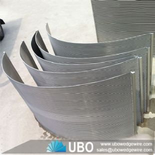 Stainless Steel Wedge Vee Wire Cross Flow Sieve Bend Screens