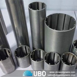Wedge vee wire slotted pipe screens for oil industry