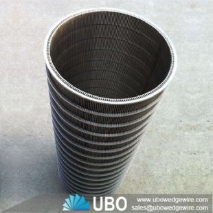 SS 304 316 V shaped wire wedge wire screen tube for screening