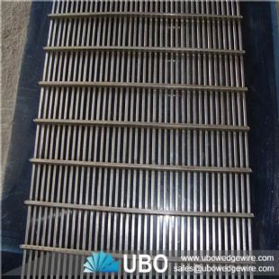 V shapped slot wire wedge wire screen panel for waste water treatment