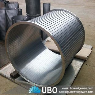 Wedge wire water well screen cylinder strainer