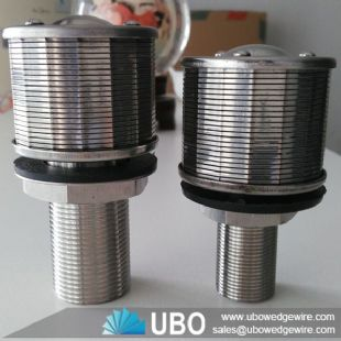 Wedge wire screen nozzle filter strainer for industry filtration system