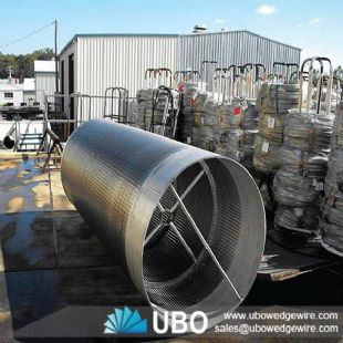 Welded wire wedge screen mesh drum cylinder for water filtration system