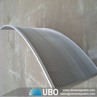 Wedge wire screen parabolic panel sieve plate water filter