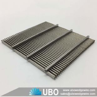 Stainless steel wedge v wire slotted screen sieve screen panel for waste water treatment