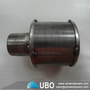 SS wedge wire liquid filter nozzle for water