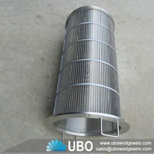 Johnson type V-Shaped Stainless Steel Wedge Wire Drum Screen Cylinder for Liquid Filtration