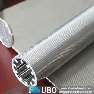 Stainless steel wedge wrapped wire screen pipe strainer for waste water treatment