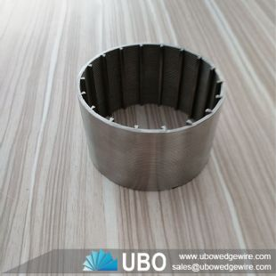 Wedge wire water filter screen tube strainer for water well