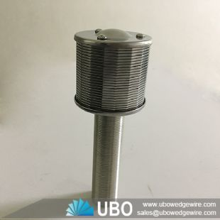 Wedge wire water filter nozzle strainer for water filter equipment bottom