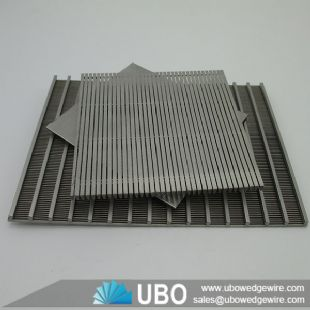 Wedge Slotted Wire Flat Screen Plate for Sewage Filtration