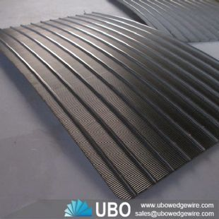 Stainless steel wedge wire screen parabolic cureved screen plate for sweage treatment